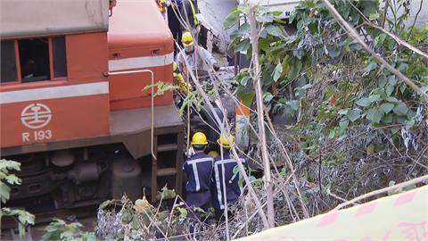 猛力撞擊 太魯閣號卡在清水隧道須將第7、8節車廂切斷 拖拉工程延宕