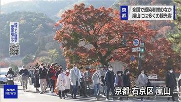 沒在怕?疫情升溫也要出遊賞楓紅   京都嵐山人潮擠爆 業者:疫情仍在控制範圍