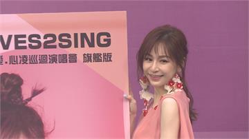 王心凌出精選輯辦簽唱會 歌迷冒雨聆聽