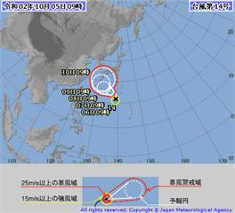 快新聞/今年第14號颱風昌鴻生成 恐影響國慶連假天氣
