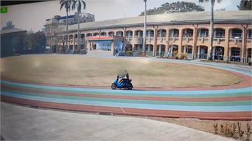 無照少年騎車闖校園 操場當賽道狂繞圈