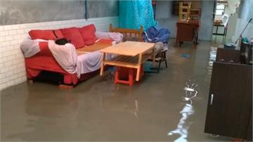 豪雨強襲雲林!民宅菜園、稻田都泡湯