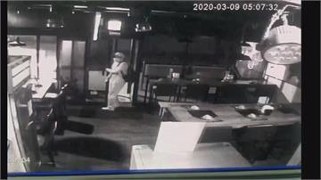 夜闖火鍋店偷竊 搜刮現金順便偷口罩