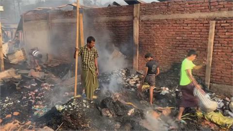 洛興雅難民營大火 15死數百傷醫療站燒光 人間煉獄!急缺各式物資