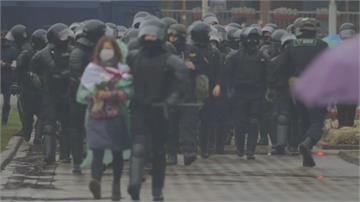 白俄羅斯大選舞弊示威警閃光彈、水砲暴力清場