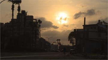 大甲迎來連續五天「懸日」美景!可惜烏雲攪局只見晚霞