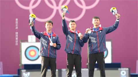台灣男團射箭奪銀 追平2004雅典奧運最佳紀錄