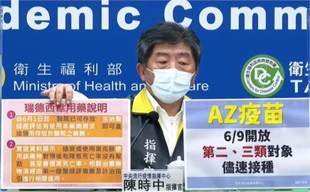 快新聞/確診者無法取得瑞德西韋 陳時中解釋:從6/1起就存放地方醫院