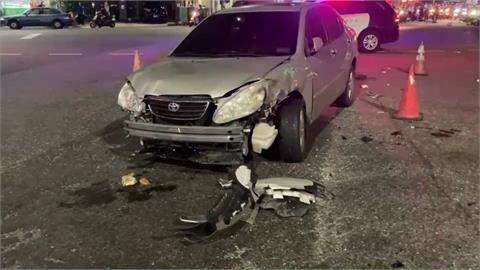又是酒駕!駕駛連環撞波及9輛汽機車 6人傷