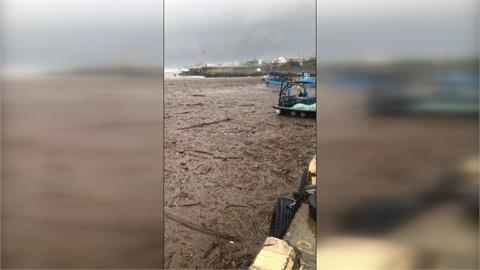 每逢豪雨就塞港! 漂流木塞爆枋山楓港漁港