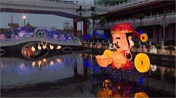 燈會持續一個月!台南鹿耳門聖母廟走春人潮爆滿