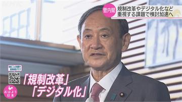 日首相菅義偉上任 內閣支持率高達74%
