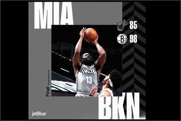 NBA/籃網三巨頭第四節回神 逆轉擊敗熱火