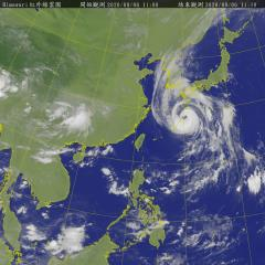 快新聞/海神颱風減弱成中颱直撲日韓 北海岸防強風、長浪