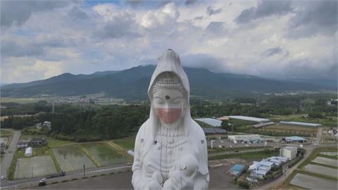 大工程!日本福島觀音像費時3hr「戴口罩」
