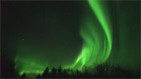 加拿大東北邊小鎮聖保羅 綠色極光如夢似幻