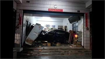 又是酒駕闖禍! 轎車撞進雜貨店釀4傷