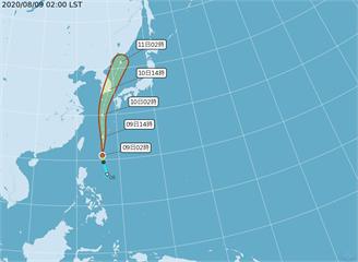 快新聞/第5號颱風「薔蜜」凌晨生成 台灣東南海面向北直行