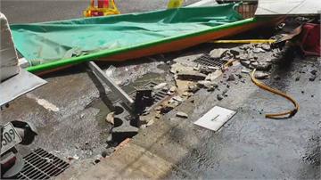 基隆仁愛市場磁磚一週掉兩次 恐怖!這次毀遮雨棚險砸婦人