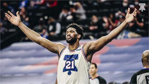 NBA/恩比德連3場飆破35分 76人終結快艇7連勝