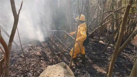 阿里山森林大火延燒3天!陸空搶救控制火勢 櫻花季全泡湯