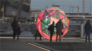 丹麥燈光節疫情下登場 30件裝置藝術點亮城市夜景