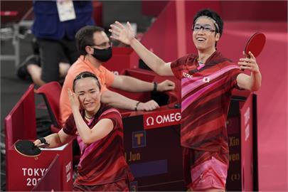 東奧/粉碎中國奪牌希望!日本桌球混雙「水美組合」逆轉奪金