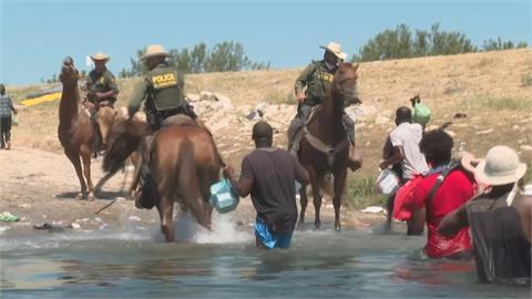 美墨邊境難民危機! 海地萬人渡河塞爆德州德利奧市 拜登下令驅逐