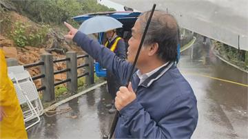 連日大豪雨 土石邊坡崩落軌道瑞芳至猴硐站路線中斷 估明上午搶通