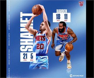 NBA/哈登回歸表現全面 籃網拔馬刺3連勝