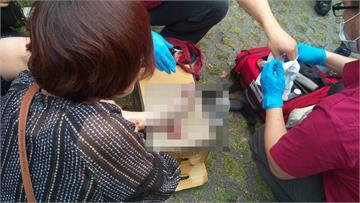 快訊/太魯閣巨大落石砸穿遊覽車!1韓國遊客腳受傷