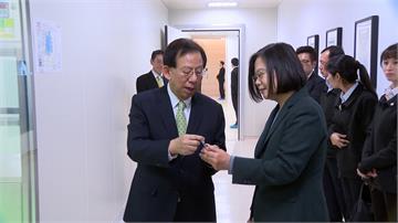 國衛院合成抗疫藥物!蔡英文:證明台灣進軍全球疫苗市場實力