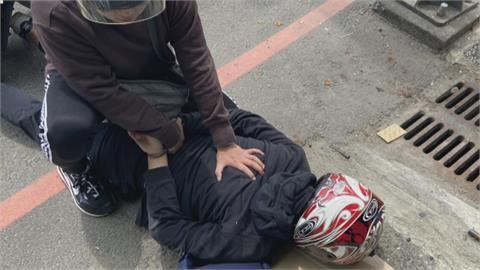 隨機偷車 還自備安全帽! 慣犯掩人耳目 大馬路上被警制伏
