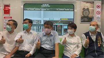 台中捷運綠線年底通車  柯、盧為高鐵站入口意象揭幕