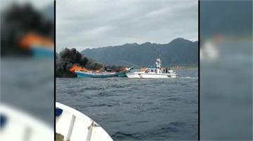 台東成功外海火燒船!2船員驚險獲救