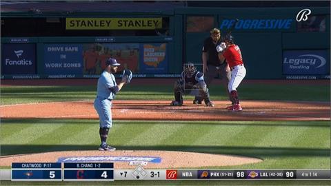 MLB/張育成三次打擊都上壘 助印地安人一分險勝