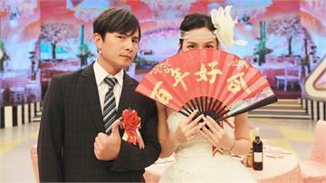 孫協志爆密婚新娘是她?扇子遮半臉只露一雙迷人電眼 揪網友猜「嬌妻是誰」