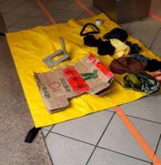 快新聞/高鐵左營站驚傳爆裂物 警封鎖月台拆彈一看...只是「衣服和飲料」