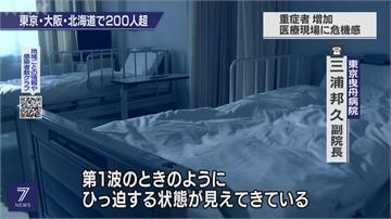 日本疫情又爆發 部分地區醫療資源吃緊