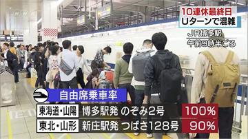 日本黃金週結束 陸空交通湧返家潮
