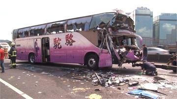 出遊變調!國3遊覽車連環撞 釀1死18傷