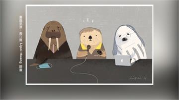 插畫家感謝防疫大將 陳時中、唐鳳超萌海獺海豹圖曝光
