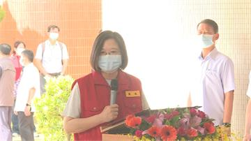 國家防災日台南視察啟聰學校總統:我要給大家一個大大的讚