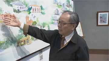 慶祝淡江大學70歲 藝術中心繪製超大幅畫作