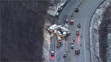 美賓州高速公路連環車禍 釀5死60人傷