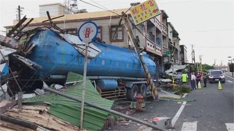轟!屏東曳引車猛撞路邊7民宅 司機身亡...又是酒駕