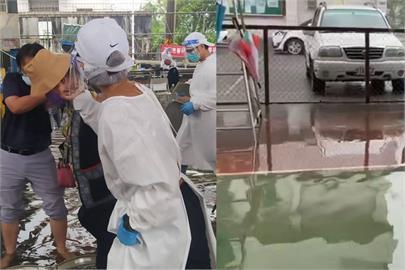 快新聞/大雨水淹接種站 高雄那瑪夏區公所「用鐵椅搭人工步道」遷移長者