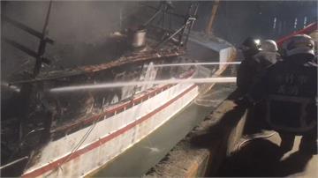新竹南寮火燒船!3分鐘大火吞噬整艘船