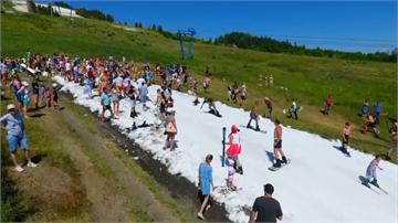 俄羅斯人工滑雪道 夏天滑雪超清涼