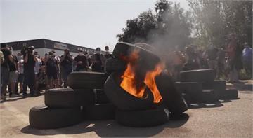 日產虧損關工廠 巴塞隆納員工上街抗議
